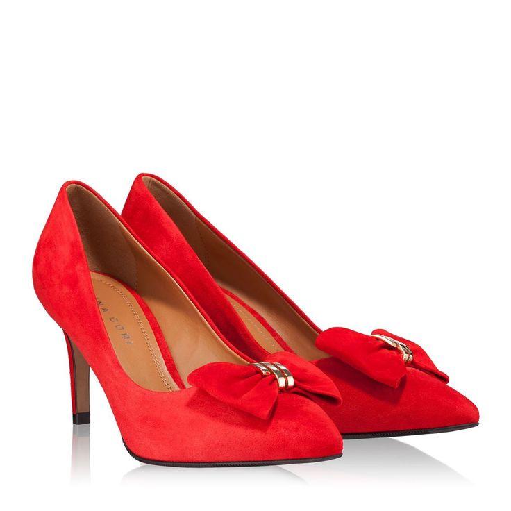 Pantofi Dama Rosii 4252 Piele Intoarsa