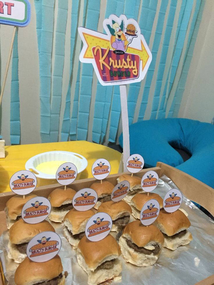 krusty burgers simpsons party