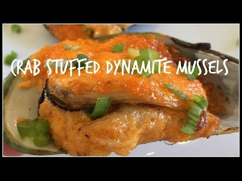 How to Make JAPANESE STYLE BAKED MUSSELS with Dynamite Sauce Appetizer - YouTube