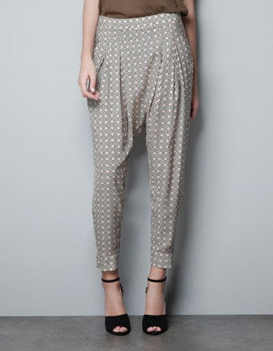 I like this crazy pants.  TROUSERS WITH TIE PRINT - Trousers - Woman - ZARA