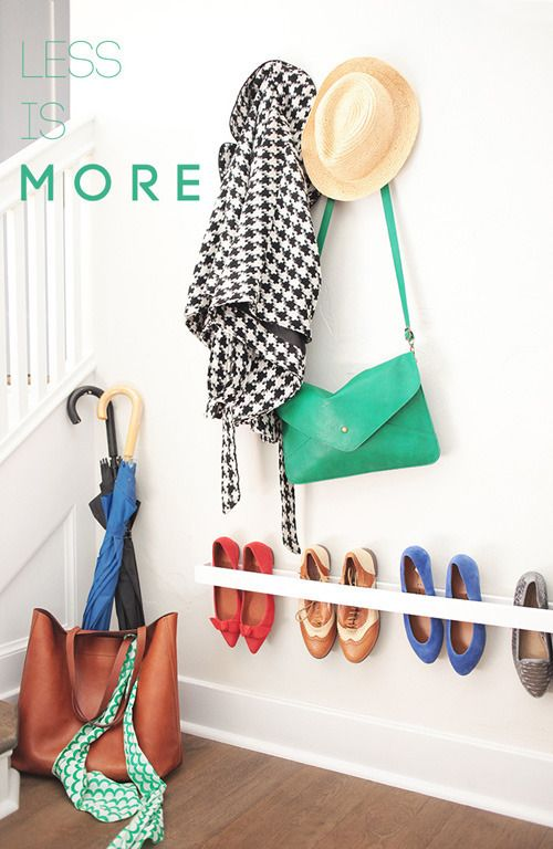 roundup our favorite diy entryway and landing zone projects this simple shoe rack