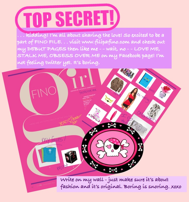 Check out the debut magazine at FilipaFino.com, then like Fino Girl at Facebook via http://www.facebook.com/pages/Fino-Girl/316987554979454