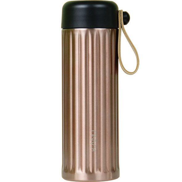 KANU STRAP Stainless Tumbler 355ml GOLD Thermos & Cold Coffee Mug Ad by GONG YOO #KANU