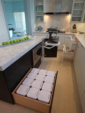 Kitchen in Sarasota - contemporary - cabinet and drawer organizers - other metro - Eurotech Cabinetry Inc.