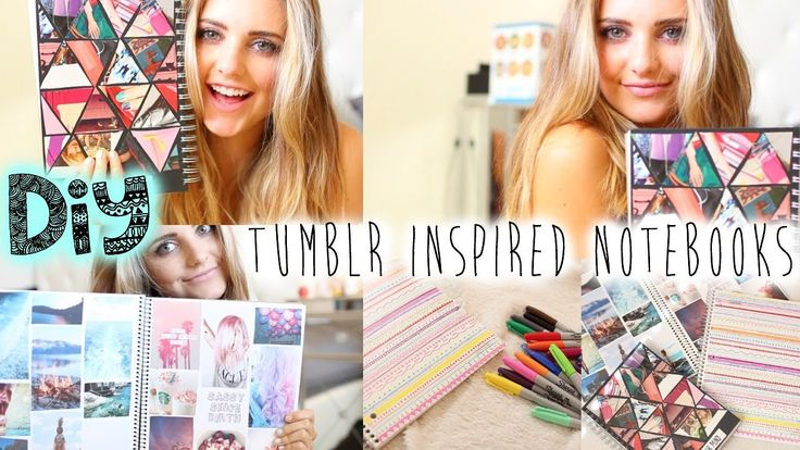 DIY: Tumblr Inspired Notebooks! | Aspyn Ovard Probably one of my favorite DIY videos on youtube.