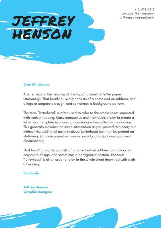 Canvas template hakkında Pinterestu0027teki en iyi 20+ fikir - personal letterhead