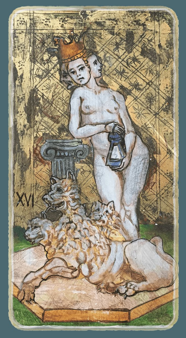 Prudence - Tarot card from the book Constant Guests by Patricia Nedelea #Tarot #Prudence #book