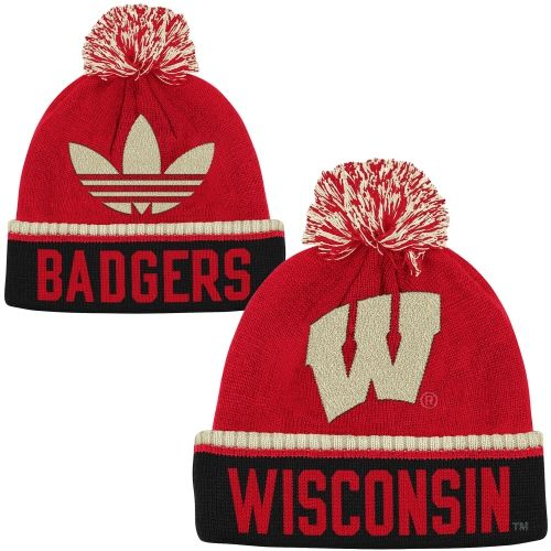 Wisconsin Badgers Cuffed Knit Hat with Pom