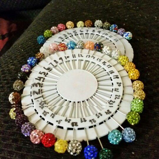 Disco ball scarf pins R 10 each