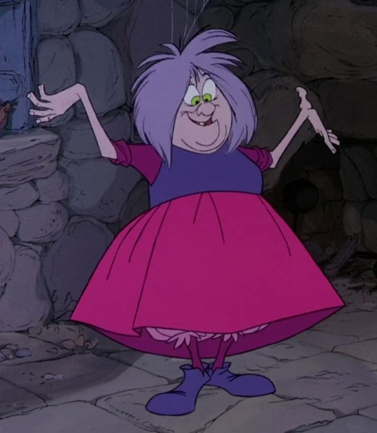 Madam Mim (sometimes also named Mad Madam Mim) is the main antagonist in Disney's 1963 animated feature film, The Sword in the Stone, which is based on the novel of the same name by T. H. White. She was voiced by the late Martha Wentworth which was also her last role before her retirement and death. Mim's past is mostly unknown. At some unknown point, she managed to harness her magical powers, which she likely used for negative means, and has become quite convinced of her power. She chose…