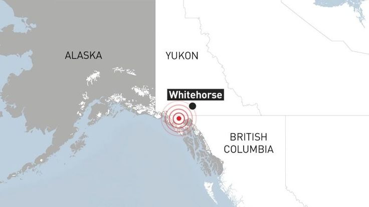 A magnitude 6.2 earthquake hit Yukon and Alaska at about 5:30 a.m. local time today, causing power outages and shaking people awake.  Many people in Whitehorse are in the dark.  The earthquake was also felt in northern British Columbia.