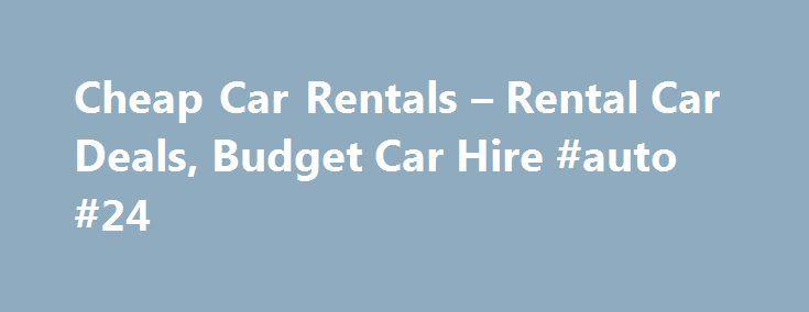 Rental deals on minivans