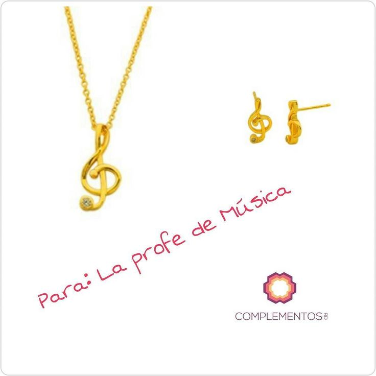 Para la profe de Música  Juego de cadena y aretes en plata 925 con un baño de oro 18k  Para más info contactanos : 809 853 3250 / 809 405 5555 Aceptamos tarjetas de crédito a través de Pay Pal  Delivery  Envoltura disponible   #newarrivals #available #chain #music #gold #silver925 #earring #elegance #teacher #gift #love #chic #glam #jewerly #accesories #available #newcollection #trendy #gorgeous #unique #fancy #byou #becomplete #complementosjewelry #complementosrd
