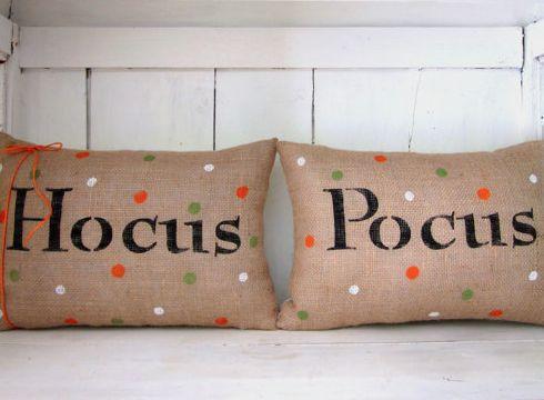 cute Halloweeen 'Hocus Pocus' pillows