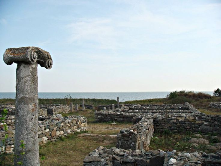 Histria or Istros , was a Greek colony or polis near the mouths of the Danube, on the western coast of the Black Sea. Established by Milesian settlers in order to facilitate trade with the native Getae, it is considered the oldest urban settlement on Romanian territory. Scymnus of Chios (ca 110 BC), dated its founding to 630 BC, while Eusebius of Caesarea set it during the time of the 33rd Olympic Games (657 – 656 BC).