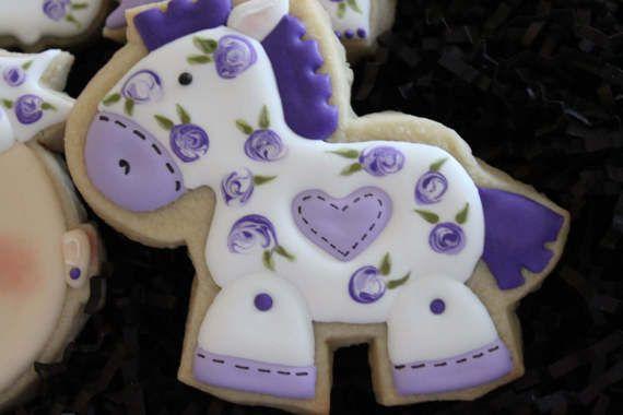Galletas de bebé ducha favores galletas de por 4theloveofcookies