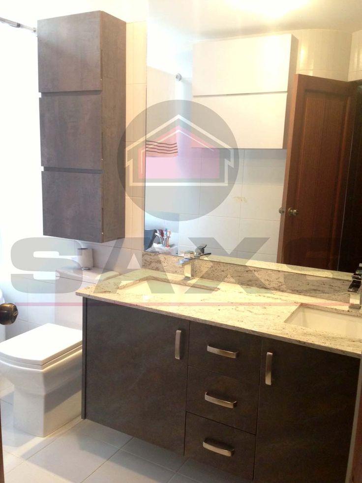Foto baño Manhattan Oxide con top granito color River white  2