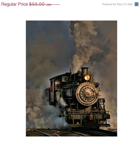 SPRING SALE  20 Off  Steam Engine  Train by JoshFriedmanPhoto, $44.00