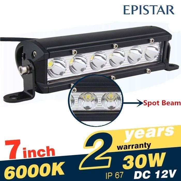 New Pcs Single Row LED Truck Light Bar inch LED W Off Road Spot Work Lamp