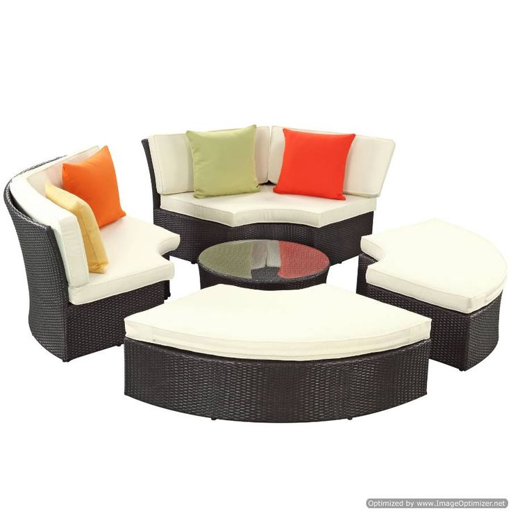 Pursuit Circular Daybed Set EEI-956-EXP-WHI-SET by LexMod