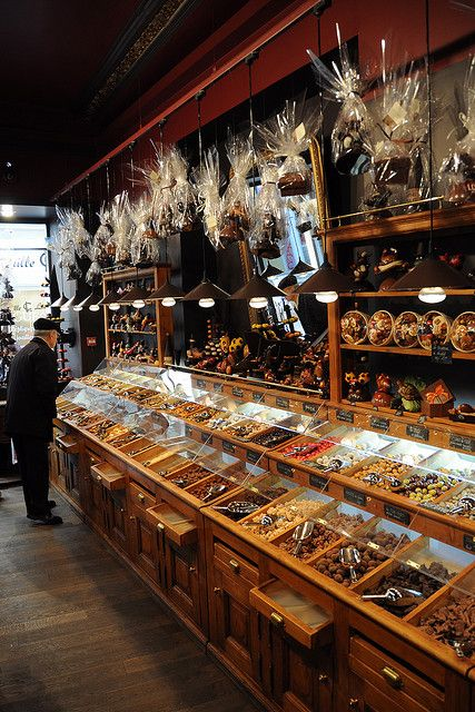 French chocolate shop. Ah! It is like a chocolate lovers haven! French + Chocolate = Something extraordinaire.