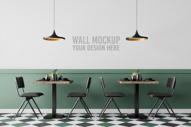 Interior Cafe Wall Mockup Cafe Wall Interior Glass Signage