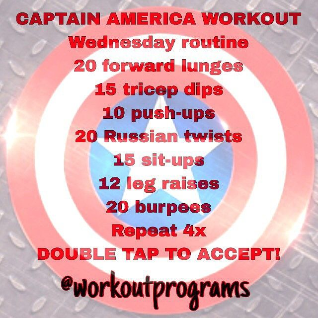 CAPTAIN AMERICA WORKOUT! - Visit to grab an amazing super hero shirt now on sale!