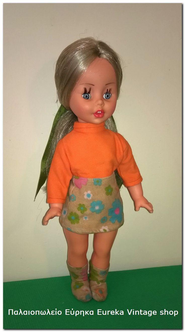Κούκλα el greco 1970's. Η κούκλα είναι πολύ εντυπωσιακή, και είναι σε αρκετά καλή κατάσταση. Έχει ύψος 31εκ.