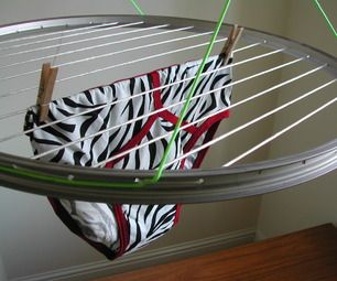 Bike Wheel Laundry Airer new improved and in English !