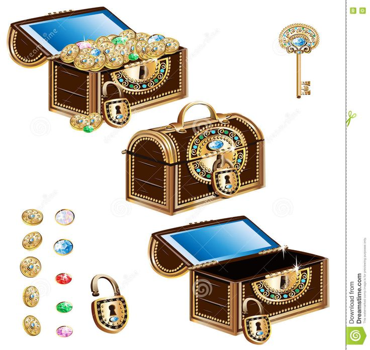 Treasure Chest Decorated Jewelry Ornament Set - Download From Over 55 Million High Quality Stock Photos, Images, Vectors. Sign up for FREE today. Image: 81146857