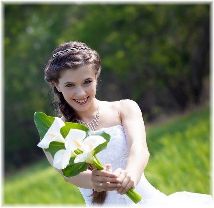"""Our """"green"""" wedding gown cleaning is environmentally safe, but soooo effective."""