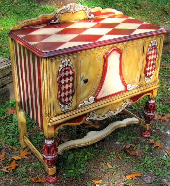 634 best images about hand painted furniture on pinterest for Hand painted furniture