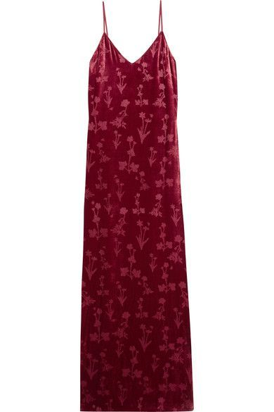 Elizabeth and James - Valerie Glittered Velvet Gown - Burgundy - US