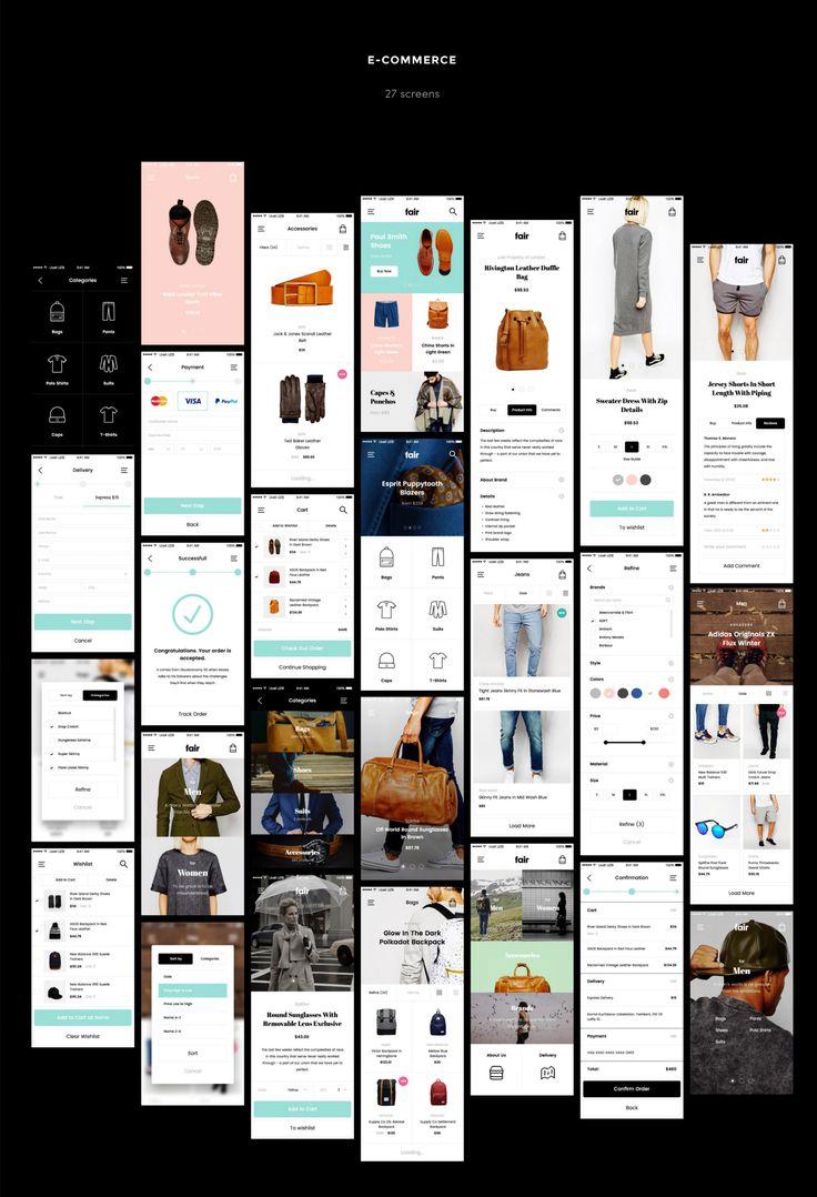 Fair Mobile UI Kit on Behance