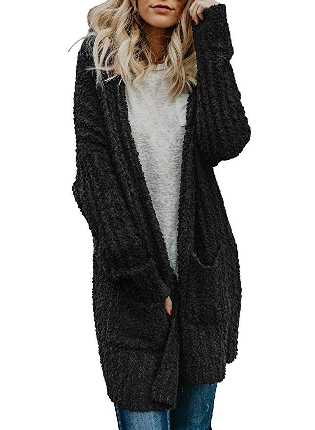 3d8d0d4a467 Dokotoo Womens Soft Casual Cozy Fashion Ladies Winter Oversized Long Sleeve  Fleece Sweater