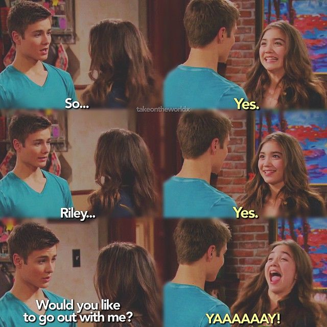 "#GirlMeetsWorld 1x20 ""Girl Meets First Date"" - Lucas and Riley"