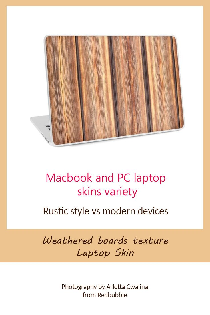 Rustic style with modern technology in duet? Weathered boards texture Macbook and PC laptop skin feels like made of real wood. Photography by Arletta Cwalina/ @redbubble. See more clothes and home decor ideas and if you love it, feel free to share, maybe your friends would like to have it too :) #homedecor #laptop #laptopskin  #wooden #boards