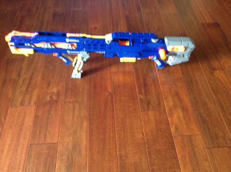 Nerf Longshot CS 6 Dart Gun with Front Gun Ext Ammo Clip More Tested | eBay