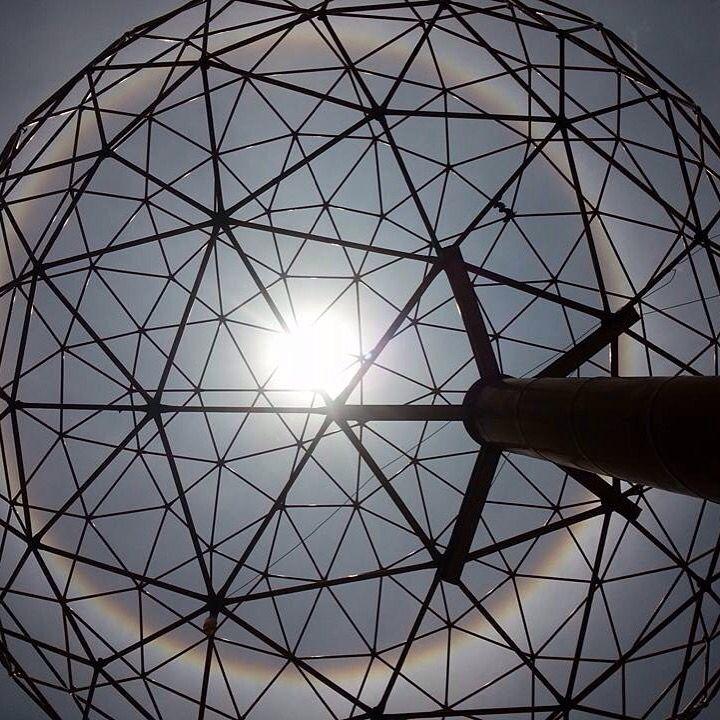 """Del sitio oficial de la #Facultad de #Arquitectura de la#UNAM """"El día de hoy"""", así brilla nuestra casa #@TarqJRevueltas: El día de hoy así brilla nuestra casa #ComunidadTAJR #SoyFA #OrgulloUNAM #Geodesica #Campus #CU #LasIslasCU"""