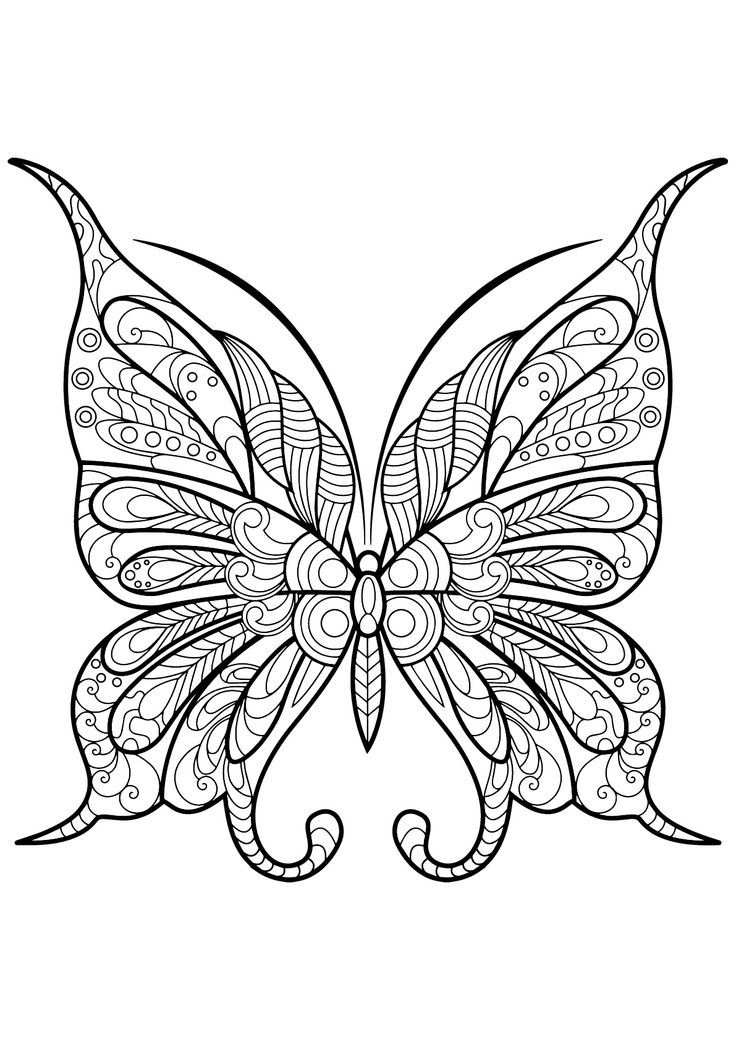 30++ Printable butterfly coloring pages for adults ideas