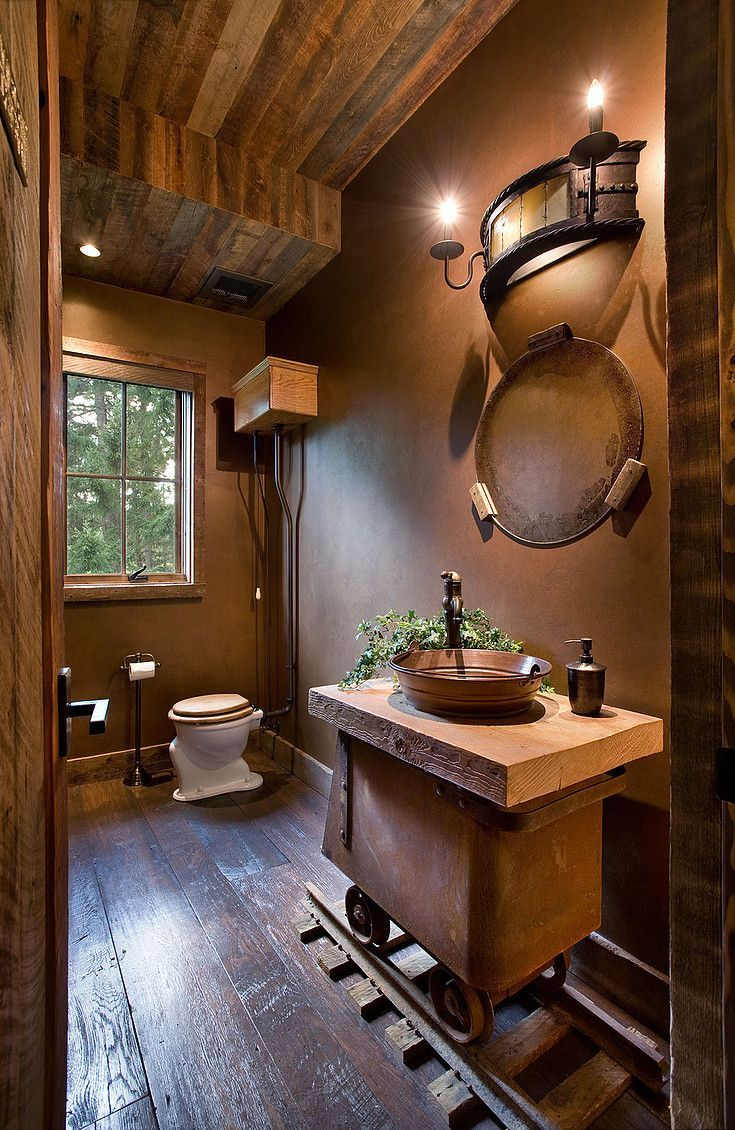 Just Creative And Cute Decor In 2019 Rustic Bathroom
