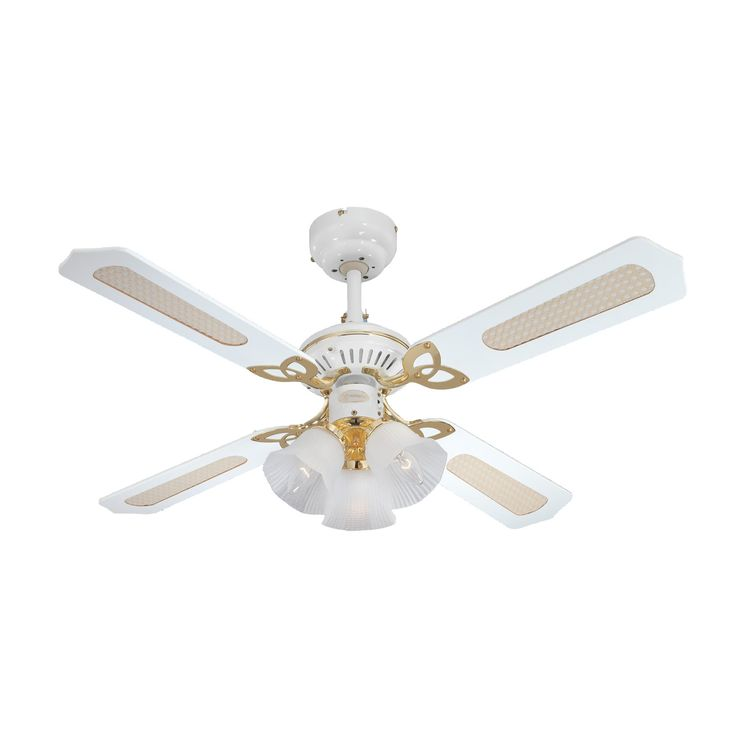 Antique White Ceiling Fan with Light - http://housesdesigning.com/antique-white-ceiling-fan-with-light/