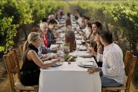 Dinner in a vineyard southern Oregon style