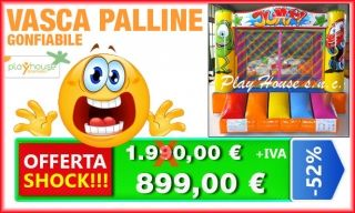 Vasca con 1000 palline corolrate http://playhousegonfiabili.it/offerte-shock-giochi-bambini/offerta-giochi-gonfiabili-vasca-gonfiabile-jump-detail.html