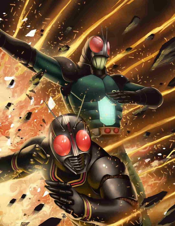 Kotaro Minami as Kamen Rider Black and Kamen Rider Black RX.