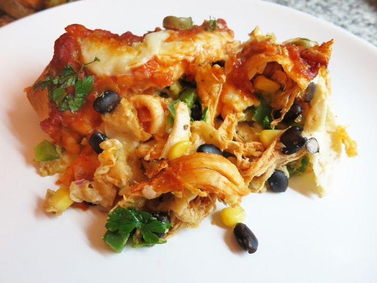 Enchiladas de Frango e Abacate   #dieta #receita #fitness