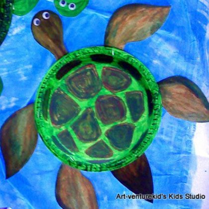 Paper Plate Sea Turtles