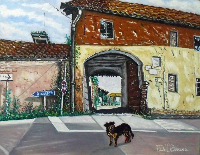 Catawiki, pagina di aste on line  Pietro Dell'Aversana - Cascine Lombarde con cane