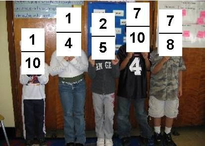 Fraction Line-Up (more good ideas for comparing and ordering fractions) I've done this with decimals too!!! SO FUN!