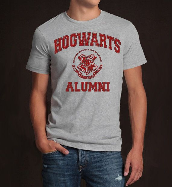hmm, I know two die hard Harry Potters fans who would love this. Hogwarts Alumni Geek Halloween Tshirt Men Men's by blesseldesigns
